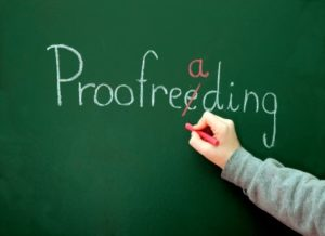 Proofreading and BSI mark-ups